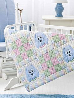 "ON SALE NOW - 25% off ALL BABY QUILTS till July 31/15 ~ Pooches & Patches ~ beginner / 35"" square ~ QUILTING pattern ~ so cute!"