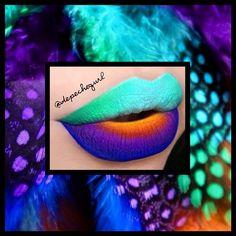 "@Obsessive Compulsive Cosmetics Royal Blue Pigment, @makeupforeverofficial #92 eyeshadow, @Sugarpill Cosmetics ""Love +"" Eyeshadow, MAC ""Orange"" & ""Chrome Yellow"" Eyeshadows, @feyoshecosmetics ""Bella Blue"" Liquid Lipstick, and Wet n Wild Eyeshadows. I used @NYX Cosmetics ""Milk"" Jumbo Pencil as a base. - @Christina Parga- #webstagram"