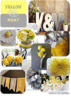 gray & yellow theme