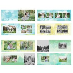 Get ready for an essential to have in your book gallery! This blue watercolor album is simple and so versatile to fit any and all of your sessions! All it needs is your photos in it! Details: - Dimens