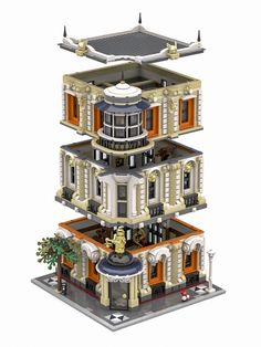 The Justice Palace - Lego sets - Lego Building Blocks, Lego Blocks, Lego Modular, Lego Design, Modular Design, Legos, Lego Lego, Modele Lego, Lego Craft