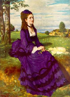 Portrait Of A Woman In Lilac Painting by Pal Szinyei Merse Franz Xaver Winterhalter, Figure Painting, Painting & Drawing, Lilac Painting, Woman Painting, Budapest, Monuments, National Gallery, Sir Anthony