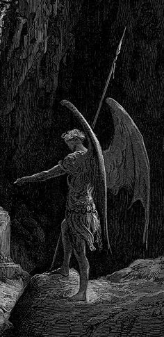 Illustration for John Milton's Paradise Lost, detail Norman Rockwell, Rockwell Kent, Dark Fantasy Art, Dark Art, Milton Paradise Lost, Satanic Art, Ange Demon, Biblical Art, Arte Horror