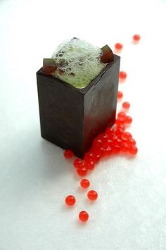 basil parfait basil-strawberry gelee basil foam strawberry caviars