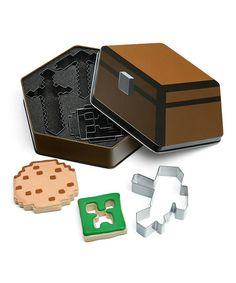 This Cookie Cutter Set by Minecraft by ThinkGeek is perfect! #zulilyfinds  $16.99