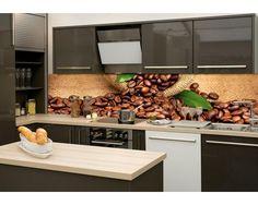 DIMEX | KI-260-006 Fototapeta do kuchyně Káva | 260 x 60 cm | zelená, hnědá, béžová
