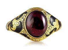 Gorgeous Georgian...  Cabochon Garnet ring, circa 1830's