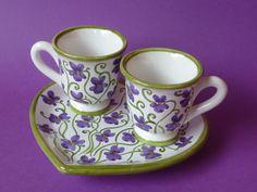TAZZINE CAFFE' ARTISTICHE | sei in home creazioni violette tazzine caffe prodotto tazzine caffe