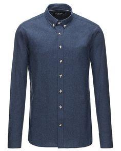 Mega fede Clean Cut langørmet skjorte Clean Cut Skjorter til Herrer i fantastisk kvalitet