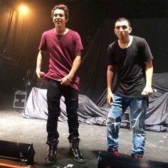 Austin and Robert at sound check at Milwaukee