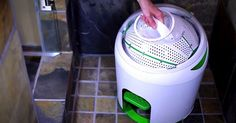 Clean your clothes with this mini washing machine.