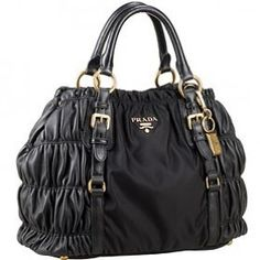 #Prada Canvas with Ruffle  #Handbags