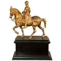 Gilt Bronze Statue of Bartolommeo Colleoni,from Venice,(1400-1475)