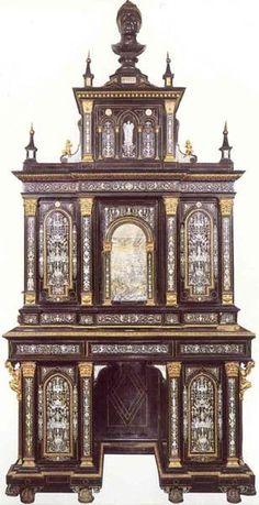 Ivory inlaid ebony cabinet