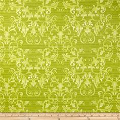 Zoe Vallone Damask Leaf from @fabricdotcom  From Benartex, this cotton print is perfect for quilting, apparel and home decor accents.  Colors include shades of green.