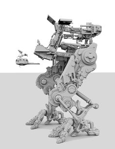Primarily modeled in ZBrush, with some elements in Roughly 22 million polygons - W/Decimation. Robot Leg, Diy Robot, Mechanical Engineering Design, Mechanical Design, Robot Design, Game Design, Animal Robot, Robots Characters, Robot Concept Art