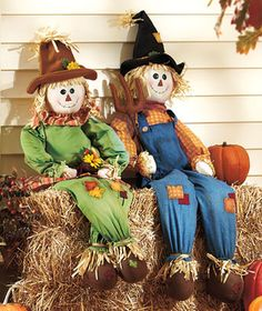 Fall Halloween Decor 41 Stuffable Scarecrows Boy or Girl [SM979342-3SU2-BOY] - $20.95 : Smart Saver LLC