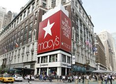One of the most famous department stores in the world, Macy's is just down the street.