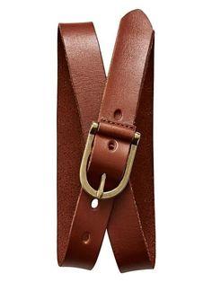 Cognac Leather Belt - Banana Republic - £25