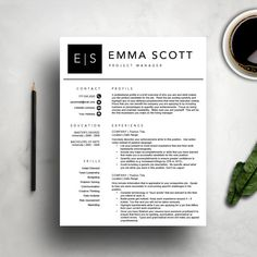 modern resume template cv template cover letter professional and creative resume teacher - Word Templates Resume