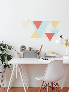 Paint inspiration: Geometric triangle wall accent DIY