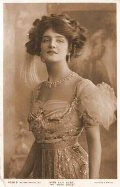 Stage actress and Edwardian beauty Lily Elsie