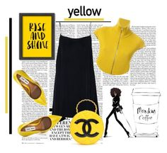 """*Yellow- Contest * - Set #2"" by sassy-elisa ❤ liked on Polyvore featuring Nicki Minaj, Americanflat, Steve Madden, Maison Margiela and Chanel"