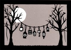 Lanterns - Cut Paper Art by ruralpearl, via Flickr
