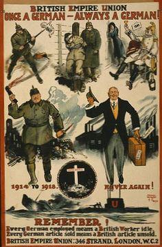 10 Anti-German Propaganda Posters from World War One Wilhelm Ii, Kaiser Wilhelm, Ww1 Propaganda Posters, Les Aliens, Historia Universal, World War One, Military History, Satire, Wwii