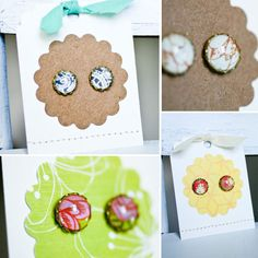 DIY earrings - so cute!!