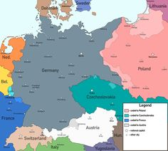 Germany if the Allies stood up for Czechoslovakia in 1938 (and won) - imaginarymaps Dusseldorf Germany, Germany Poland, Imaginary Maps, Alternate History, Oldenburg, Fantasy Map, Old Maps, Stand Up, Alternative