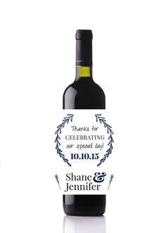Wedding Wine Labels - Custom Wine Labels Set of 8 - Personalized Labels - Wedding Labels - Custom Bottle by DesignsByZal on Etsy