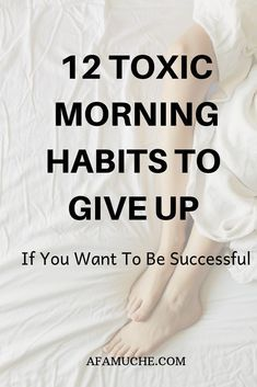 12 Toxic morning habits to give up if you want to be successful There is enormous power in nailing your morning routine as well as outlining unproductive habits that can hinder your productivity and achievement level. Healthy Morning Routine, Morning Habits, Early Morning Workouts, Morning Routines, Habits Of Successful People, Good Habits, Healthy Habits, Healthy Recipes, Self Improvement Tips