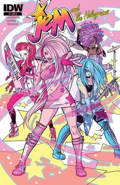 Jem and the Holograms (2015-) #1 SHOWTIME, SYNERGY! Meet JERRICA BENTON--a girl with a secret. She and her sister KIMBER team with two friends to become... JEM AND THE HOLOGRAMS! But what does it mean to be JEM today? Fashion, art, action, and style collide in the most outrageous comic of 2015!