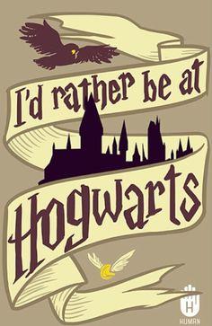 I'd rather be at Hogwarts ♡