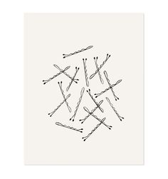 I love Anna Rifle's Bobby Pins print. It reminds me of Kate Bingaman-Burt's tattoo of the same image- so sweet and delicate.  #bobbypin #print #art