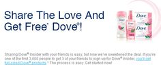 FREE Full Size Dove Products! - Raining Hot Coupons