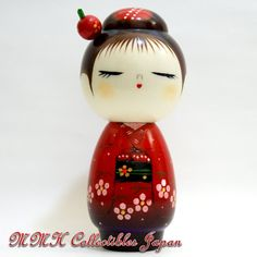 Lovely Japanese Creative Kokeshi Doll by Chie Tamura - HANA-DAYORI (TIDING OF BLOSSOM)  - MMH Collectibles Japan