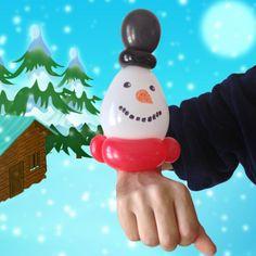 Snowman balloon bracelet