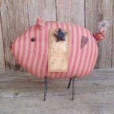 Oscar the County Fair Pig by WanderingWhimsies on Etsy, $24.00