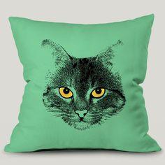 Capa Almofada Green Cat