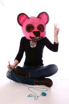 Wild Crochet Mask Art From Huckleberry Delsignore