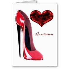 Red Stiletto Shoe and 3D Heart Cards
