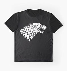 Game of Thrones T-Shirt The White Wolf Ghost by TurnedbyKandD