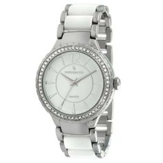 Peugeot Women's 7049WT Silver-Tone Swarovski Crystal Accented Bracelet Watch Peugeot. $59.50. Save 30% Off!
