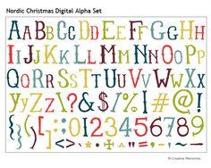 Nordic Christmas Digital Alpha Set from Creative Memories - digital scrapbooking download.