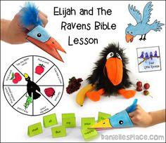 Elijah Bible Lesson - Elijah and the Ravens Sunday School Lesson from www.daniellesplace.com