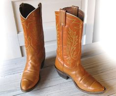 Women's 60's NOCONA Pumpkin Orange All Leather by EllumBranch, $48.00