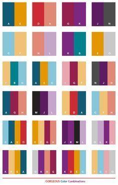 Color Schemes | Gorgeous color schemes, color combinations, color palettes for print ...