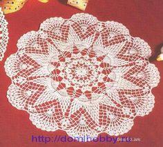 салфетка9  beautiful crochet doily with diagram - meer kleedjes met uitleg